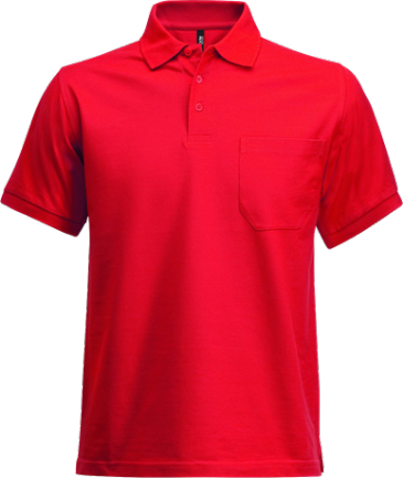 Fristads Acode Heavy Pique Polo Shirt with Pocket 1721 PIQ (Red)